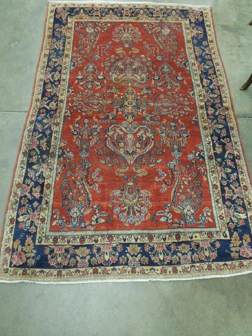 Antique Sarouk Area Carpet