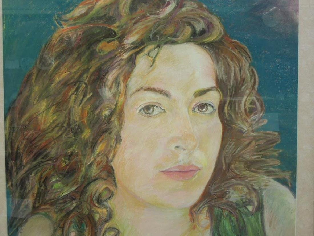 R.J. Schindler, Crayon, Portrait of a Young Woman - 2