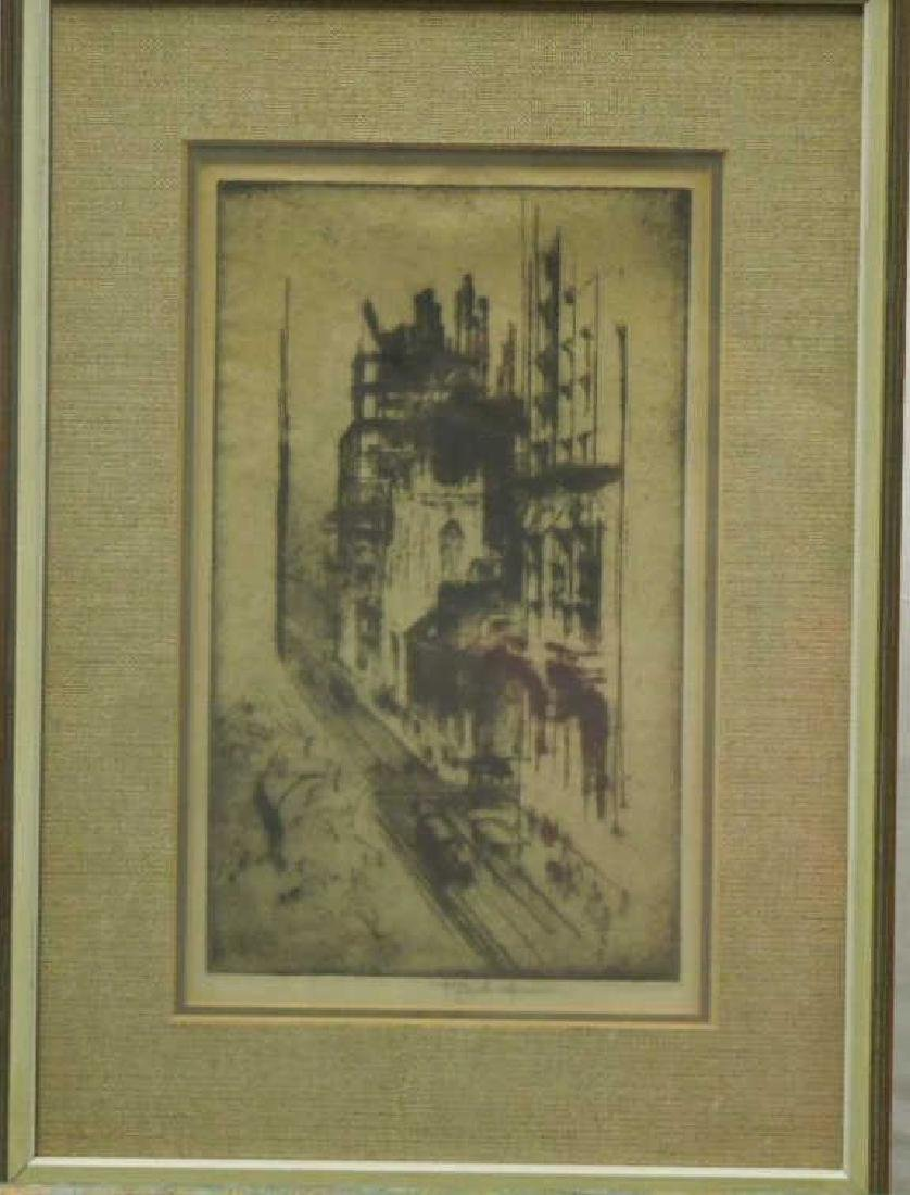 J. Pennell, Etching, Philadelphia Street Scene