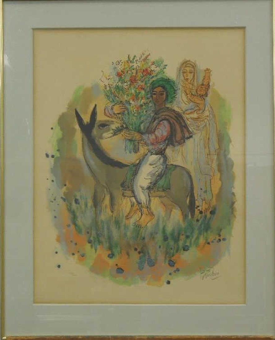 (Reuven) Rubin Color Lithograph