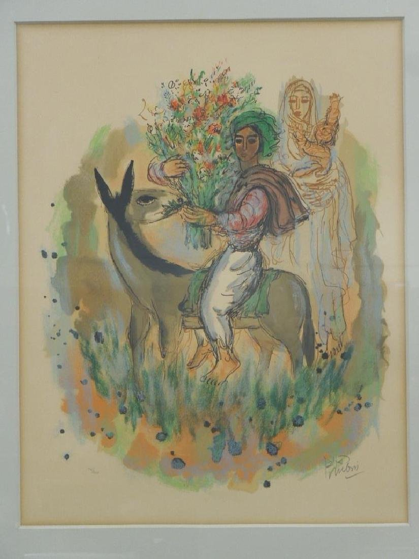 (Reuven) Rubin Color Lithograph - 2