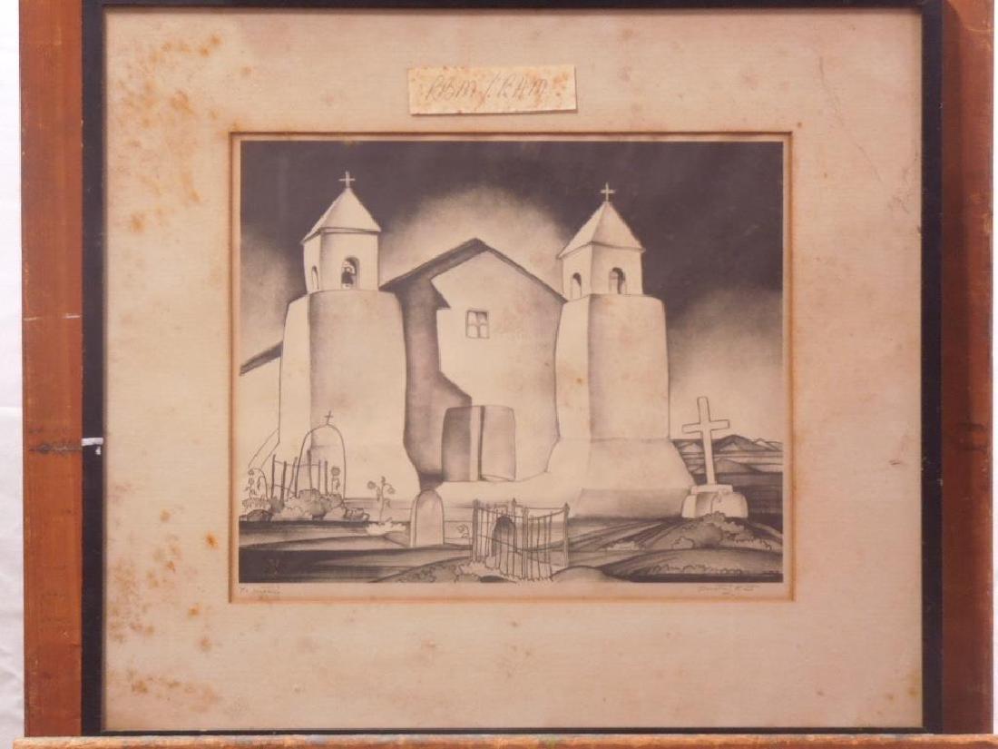 D. Kent, Litho. Mission Church Taos