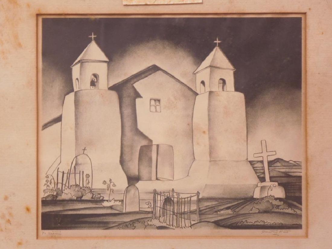 D. Kent, Litho. Mission Church Taos - 2