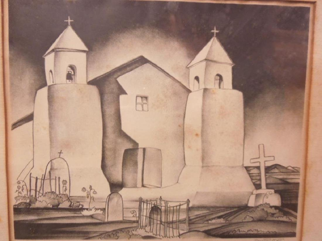 D. Kent, Litho. Mission Church Taos - 5