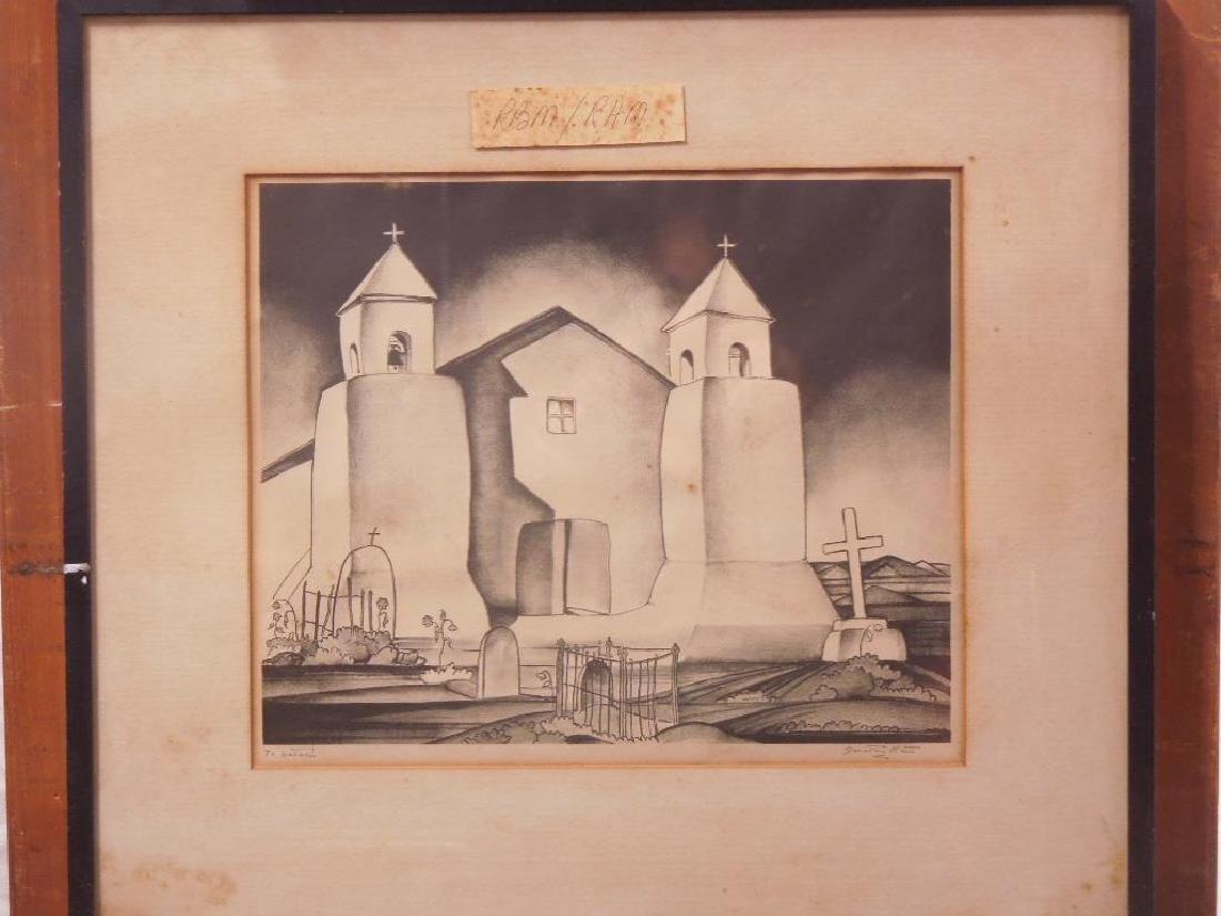 D. Kent, Litho. Mission Church Taos - 6
