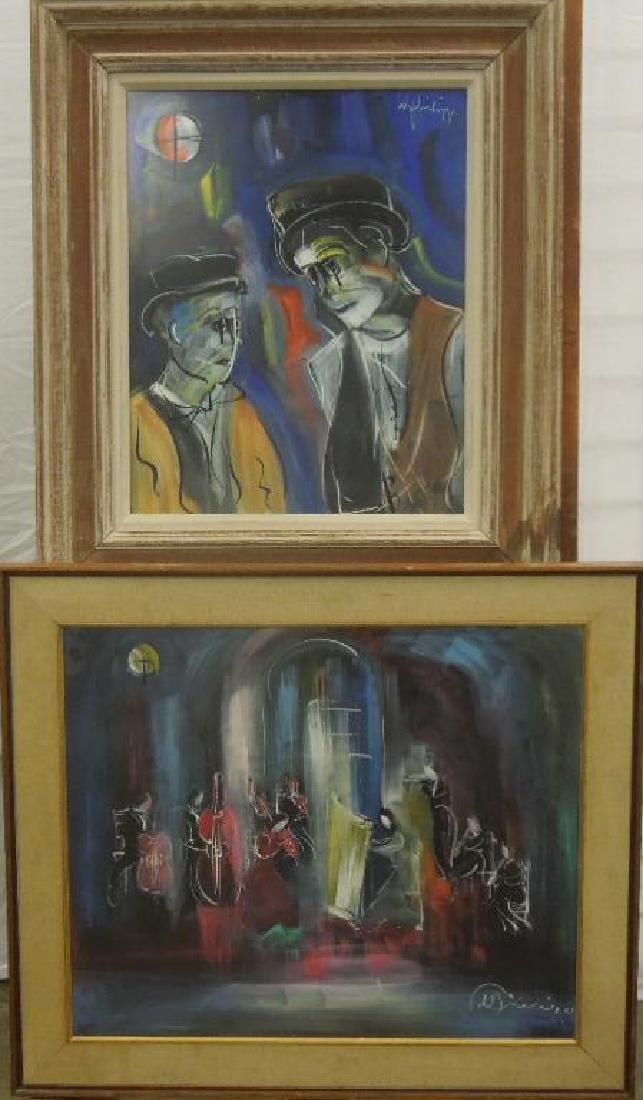 2 W. Philipp, o/p Clown Study