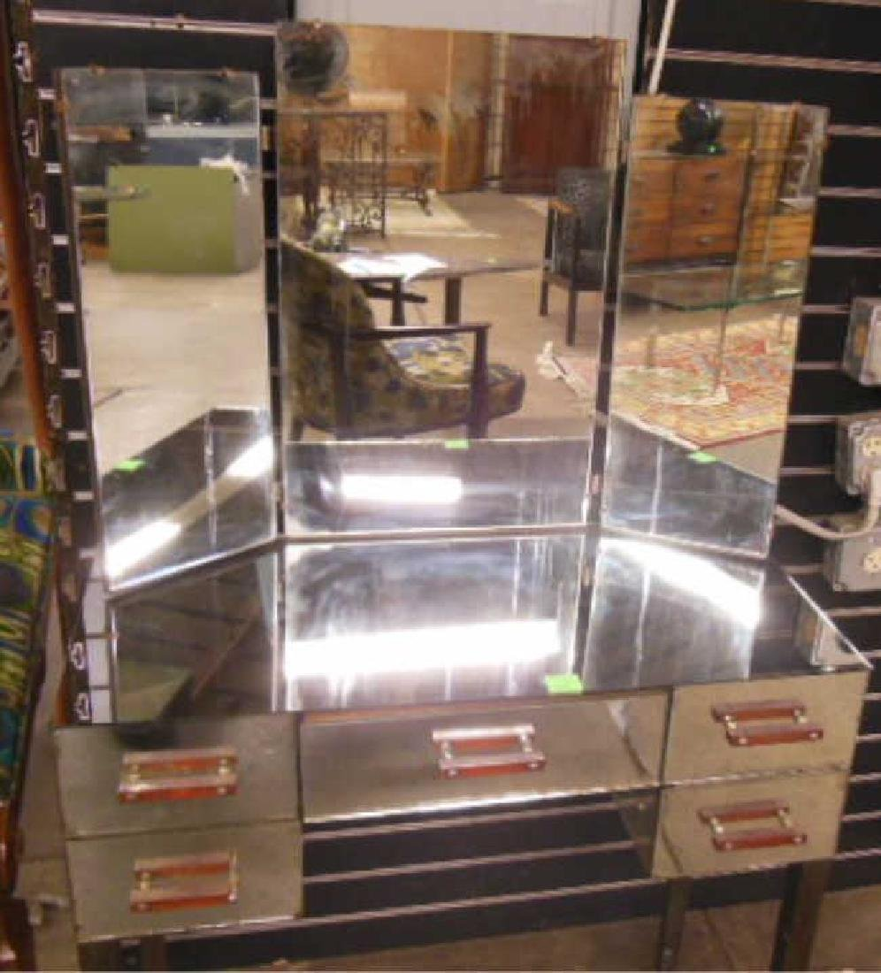 Art Deco Mirrored Vanity - 2