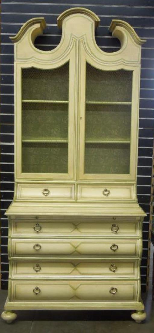 Baker Jacobean Style Secretary Bookcase