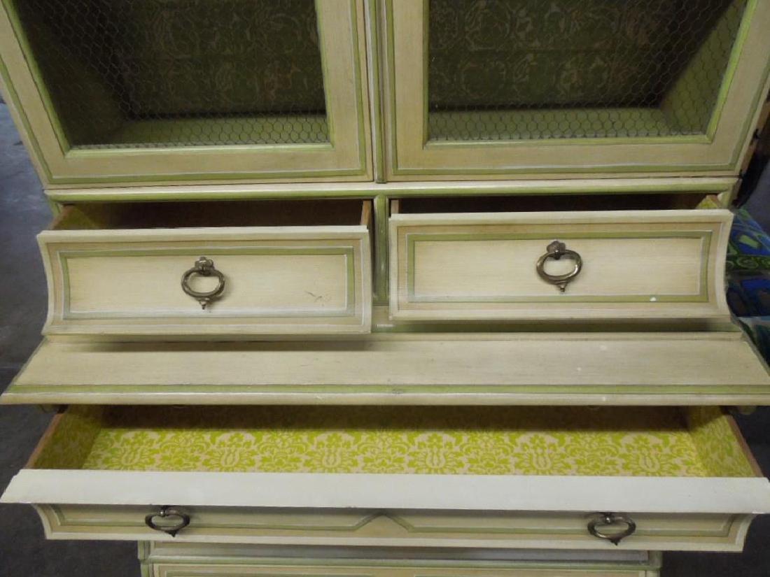 Baker Jacobean Style Secretary Bookcase - 4