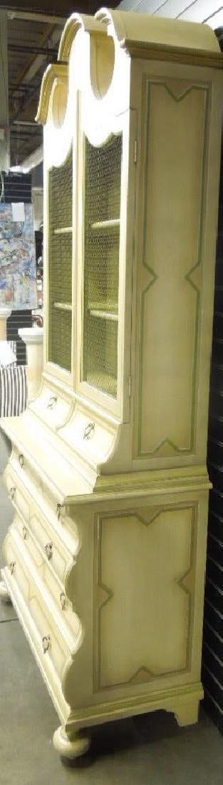Baker Jacobean Style Secretary Bookcase - 6