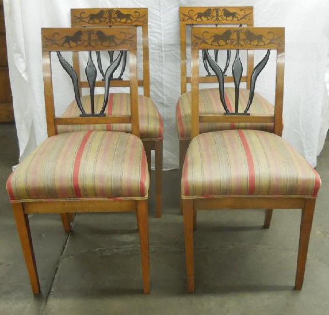 Set of 4 Antique Biedermeier Side Chairs