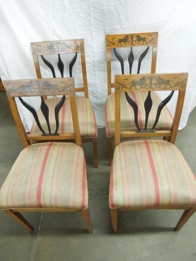 Set of 4 Antique Biedermeier Side Chairs - 2