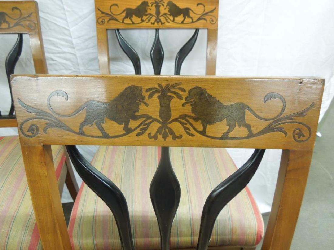 Set of 4 Antique Biedermeier Side Chairs - 3