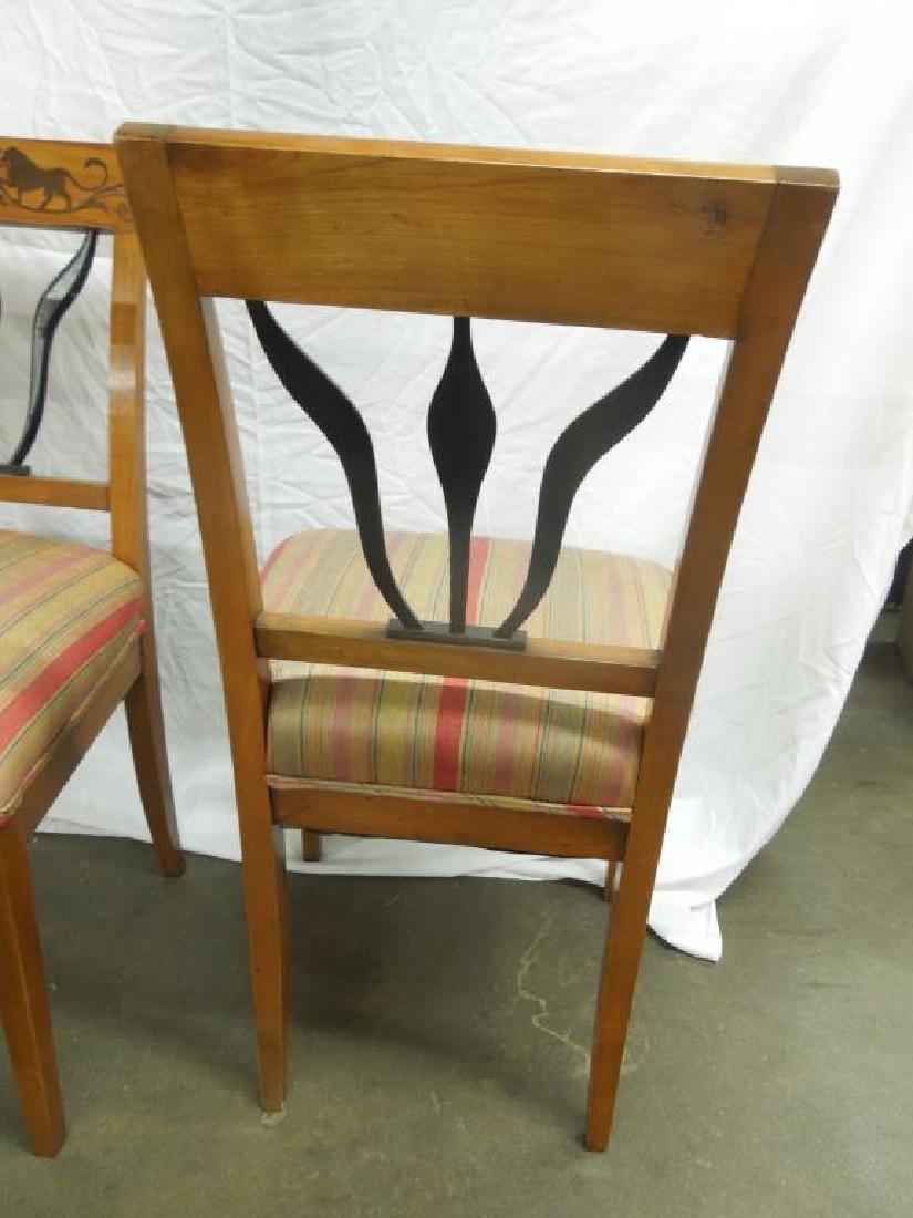 Set of 4 Antique Biedermeier Side Chairs - 5