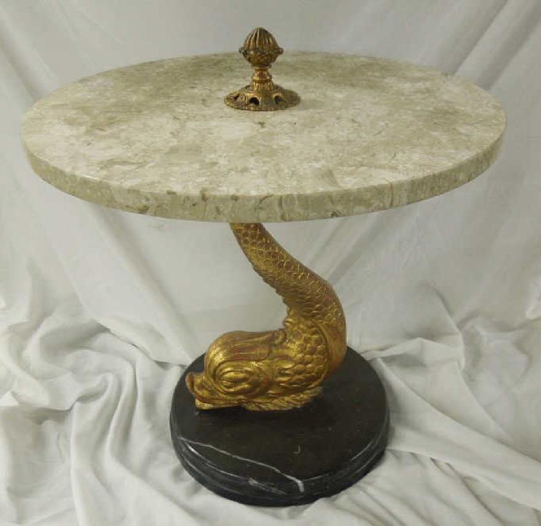 Bronze & Marble Tabouret