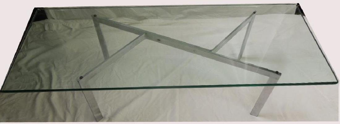 Modern Chrome & Glass Coffee Table - 2