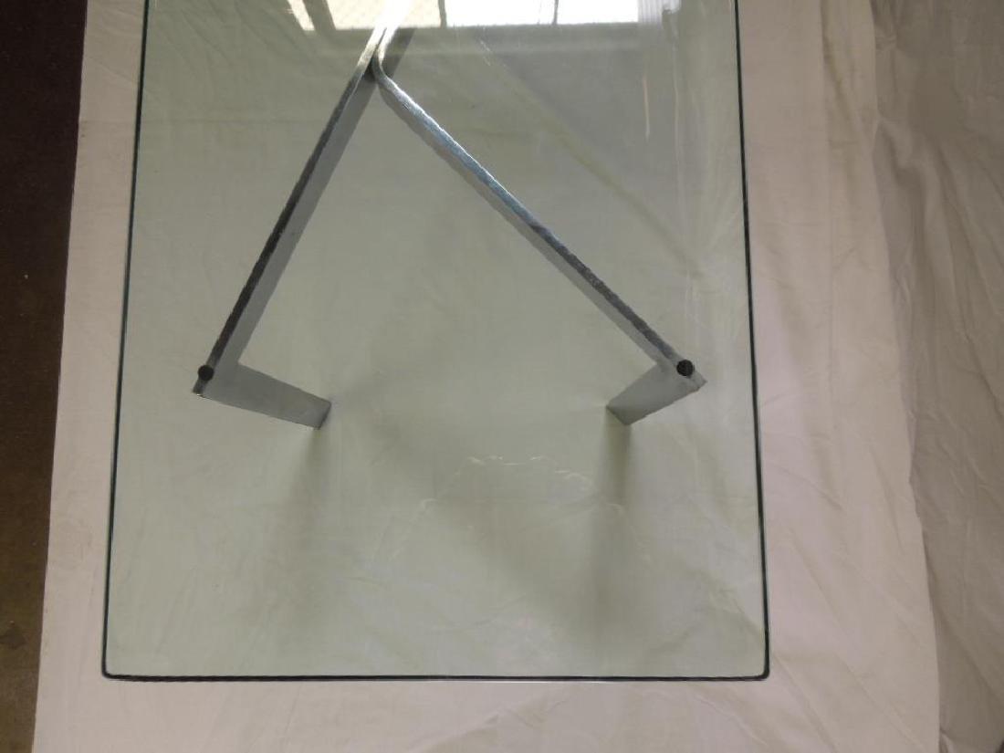 Modern Chrome & Glass Coffee Table - 3