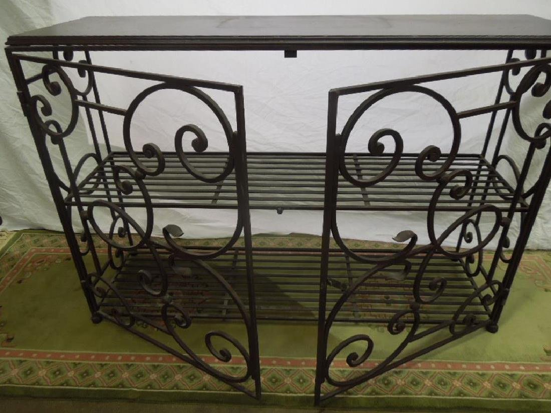 Wrought Iron Server Cabinet - 2