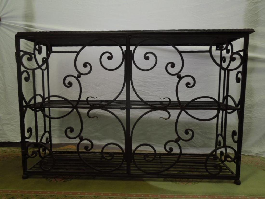 Wrought Iron Server Cabinet - 3