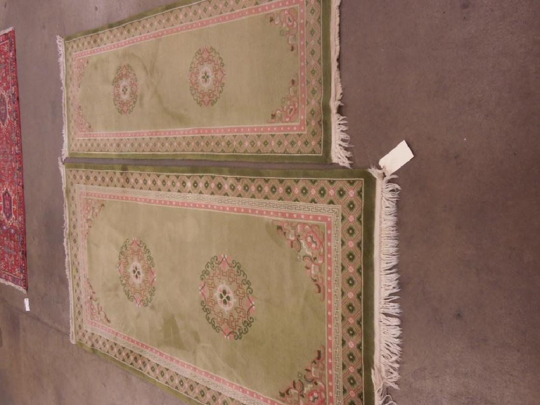 2 Decorator Chinese-Style Area Carpet & Runner