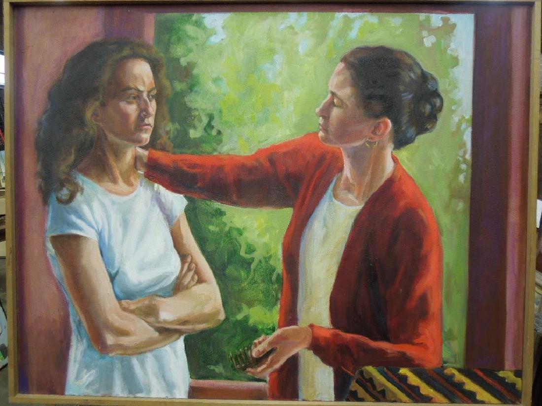 N.B Miller, o/c, Combing Her Hair