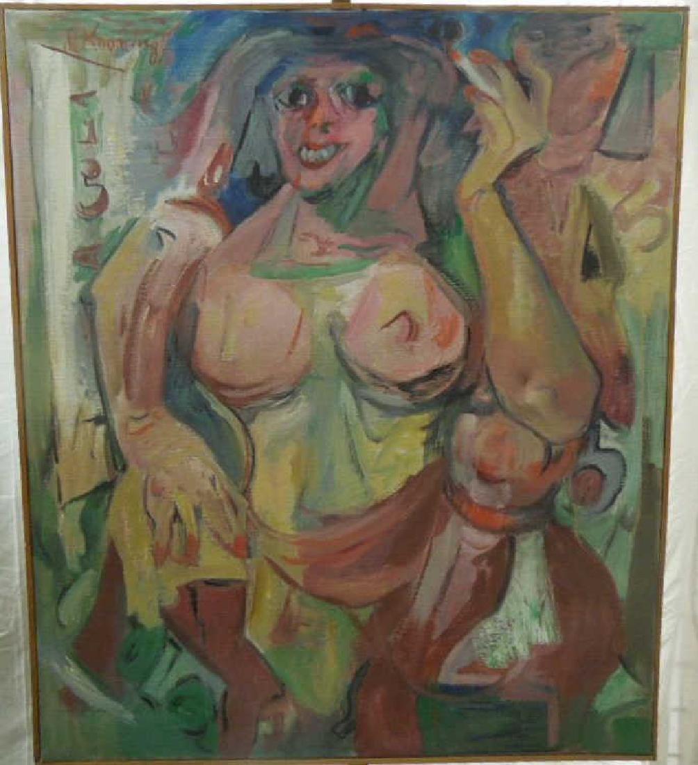 [In the manner of] Willem de Kooning Oil on Canvas