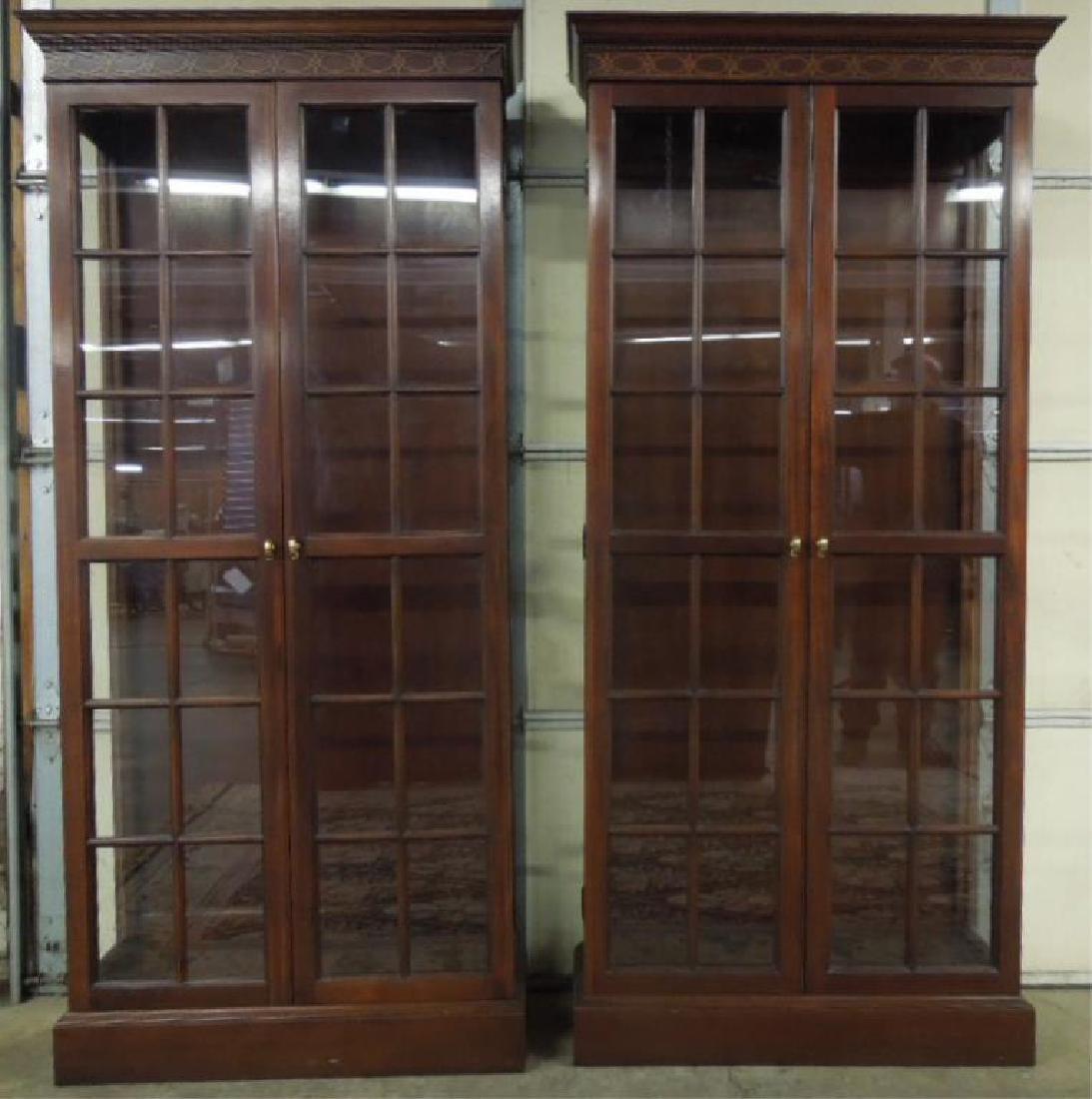 Pr Mahogany Display Cabinets