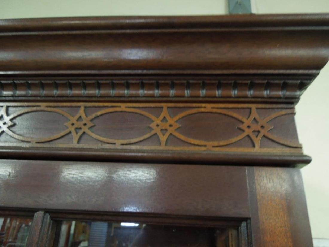 Pr Mahogany Display Cabinets - 2