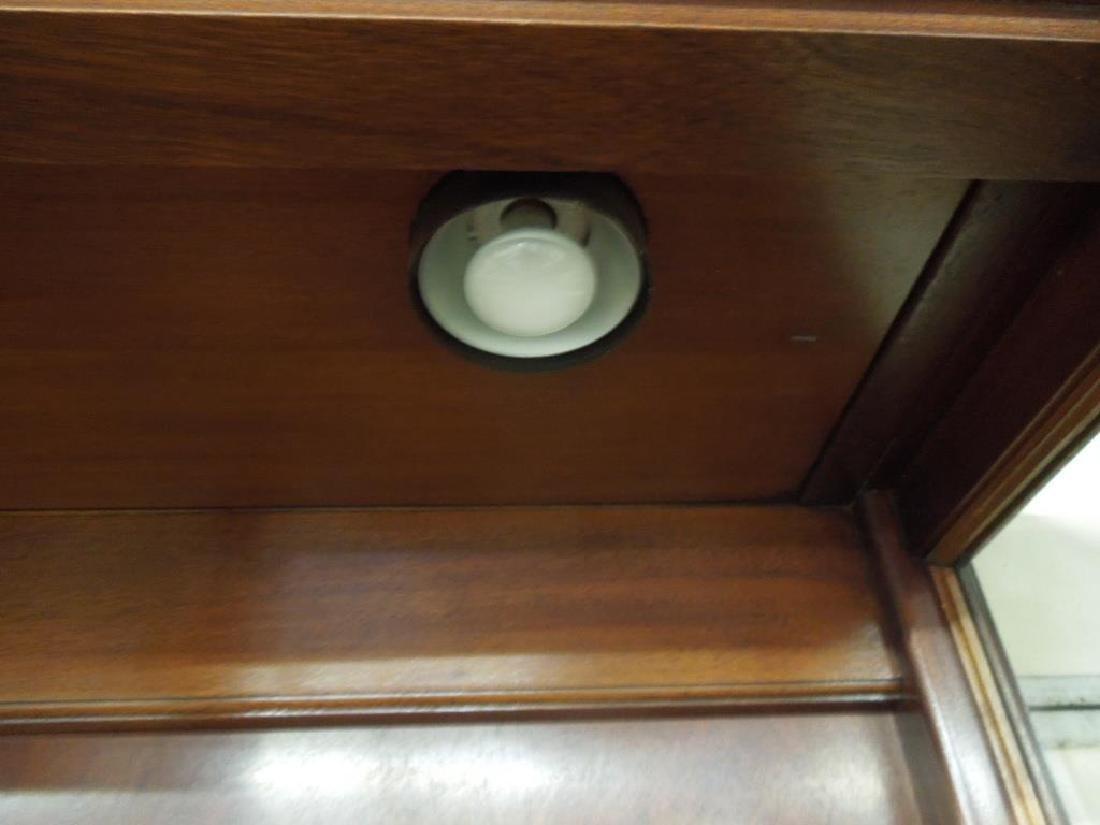 Pr Mahogany Display Cabinets - 3
