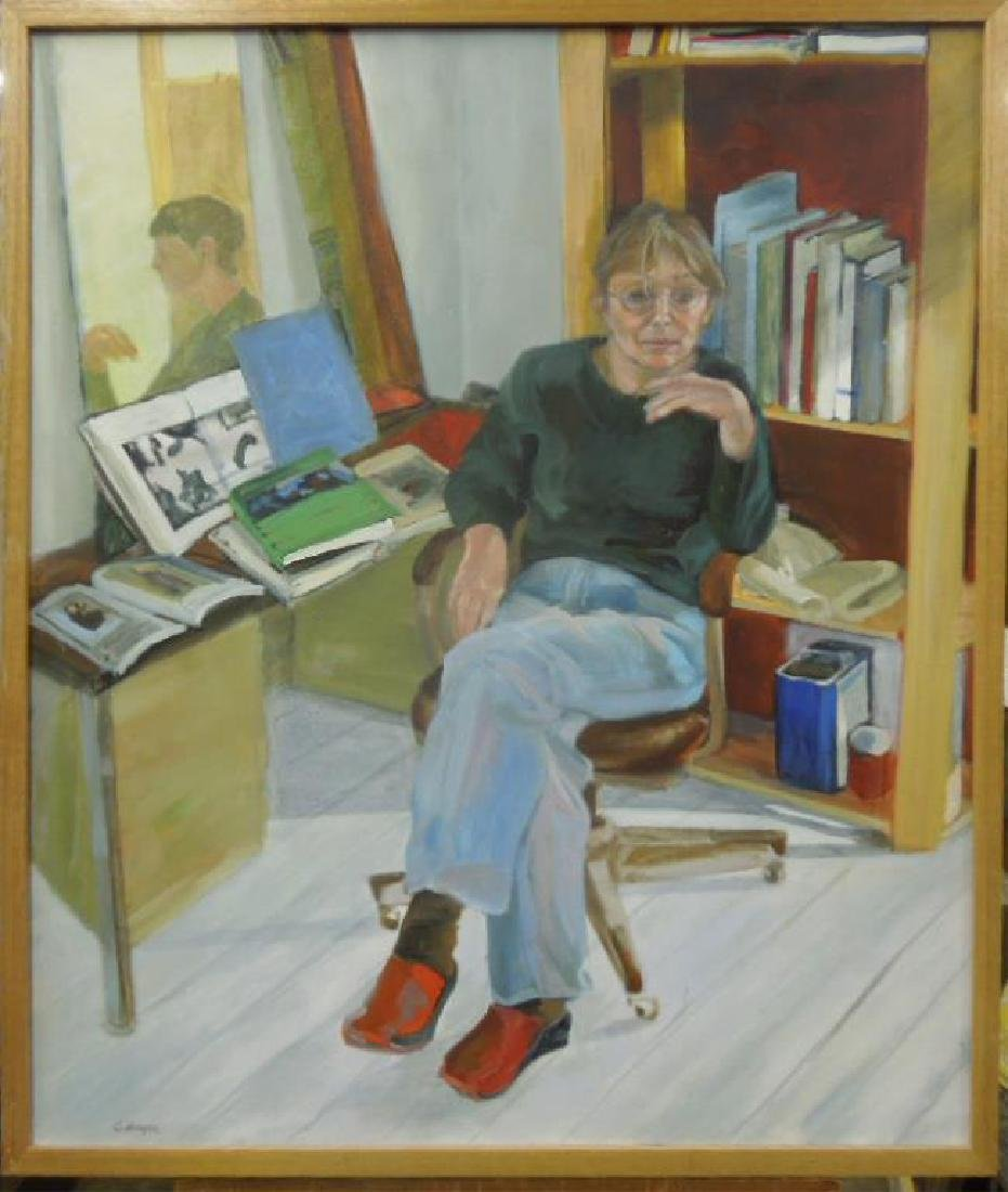 C. Bayer, o/c, Self-Portrait