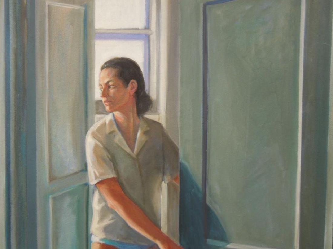N.B. Miller, o/c, Woman at Open Door - 2