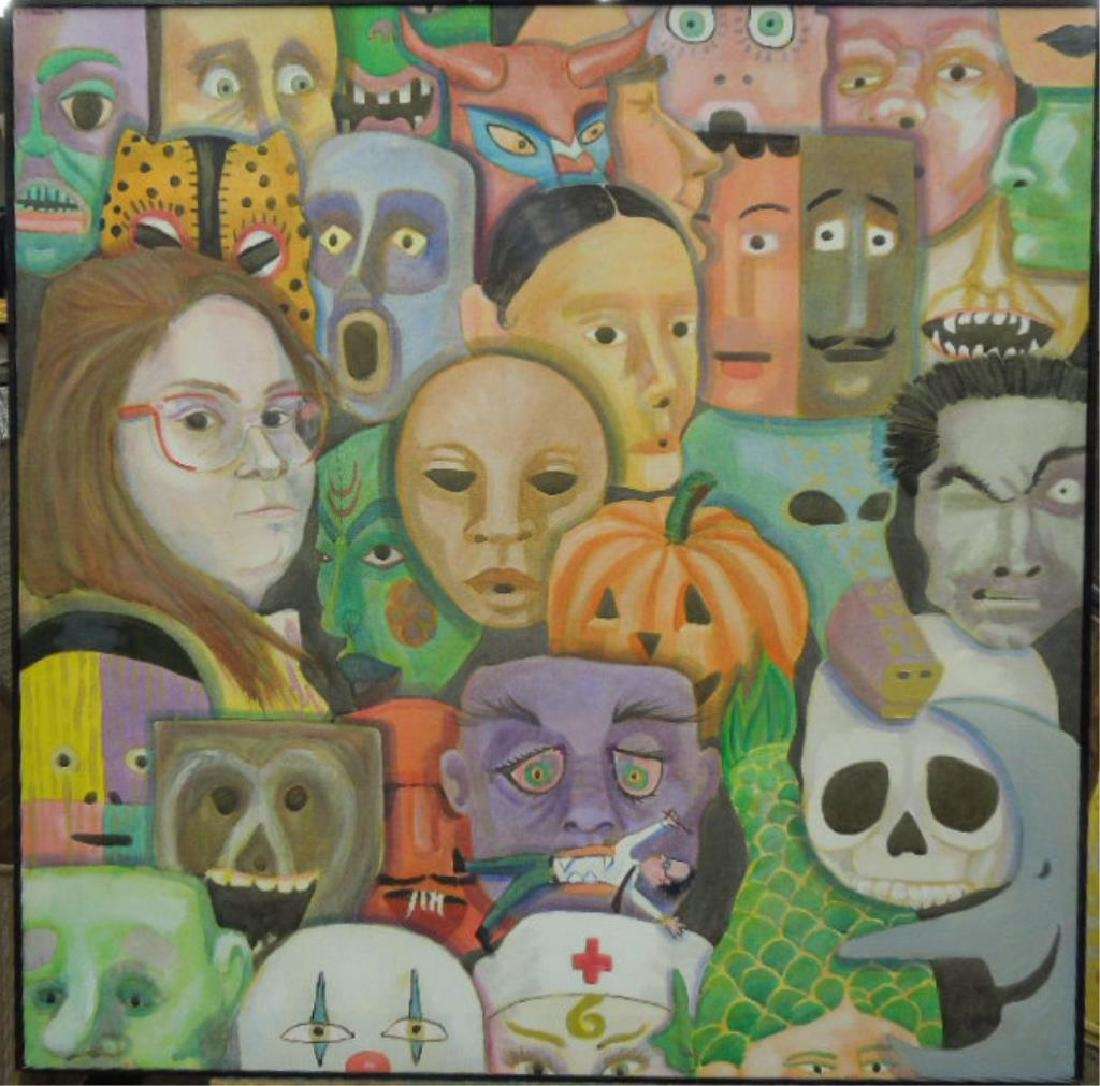 K. McFadden, o/c, Faces & Masks