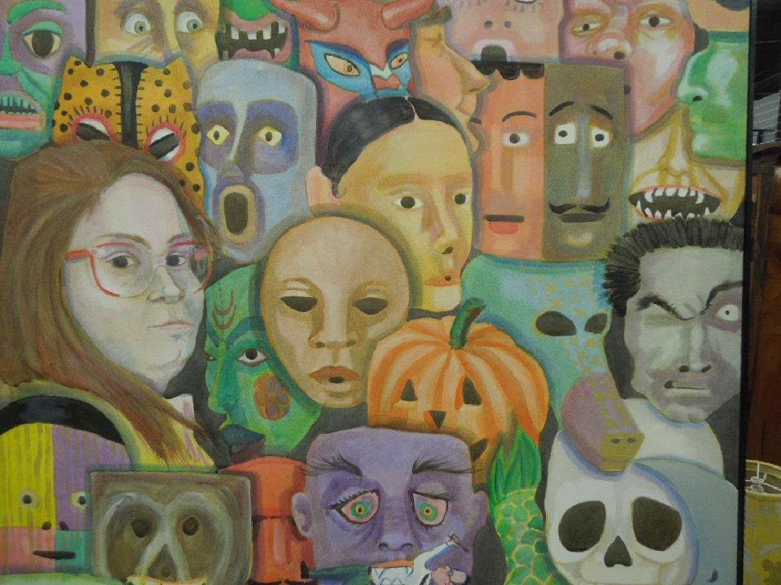 K. McFadden, o/c, Faces & Masks - 2