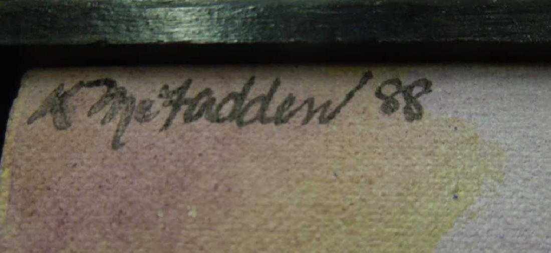 K. McFadden, o/c, Faces & Masks - 3