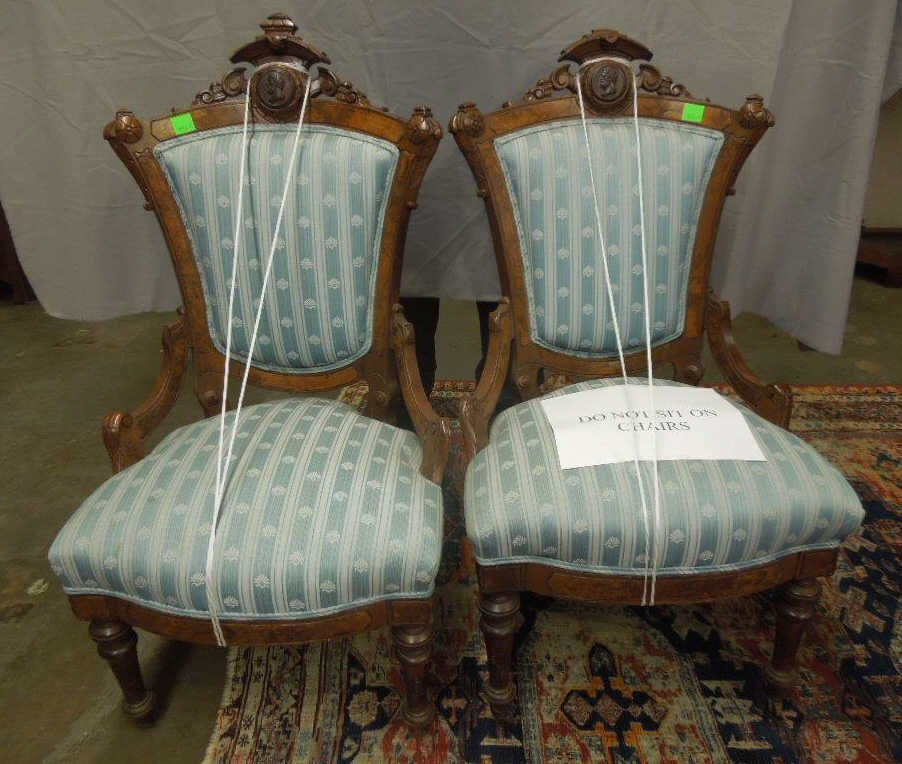 Pair Renaissance Revival Chairs