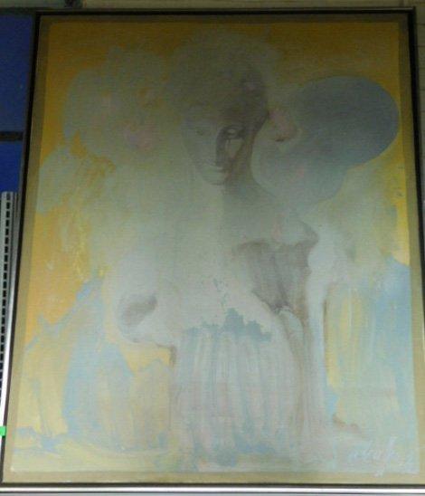 Maffia Signed o/c Portrait Bust of Lady