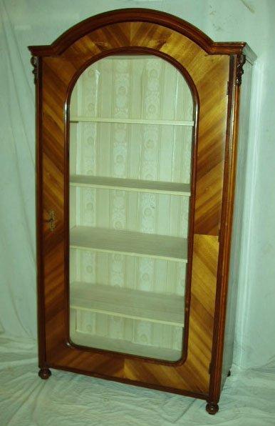 1002: Louis Phillippe Style Curio Cabinet