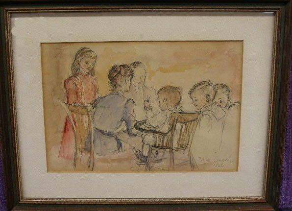 1009: M[arguerite] de Angeli, 1966, signed and dated, w