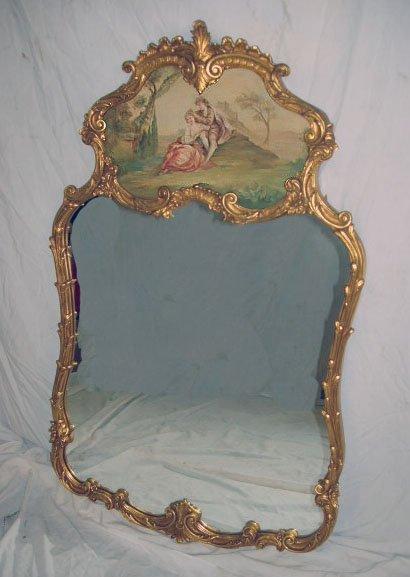 1015: Louis XV Style Wall Mirror