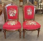 1094: Pair Victorian Renaissance Revival side chairs