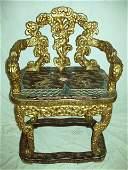 1154: Oriental Throne Chair