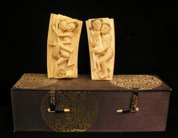 2002: Carved Ivory erotic scene panels