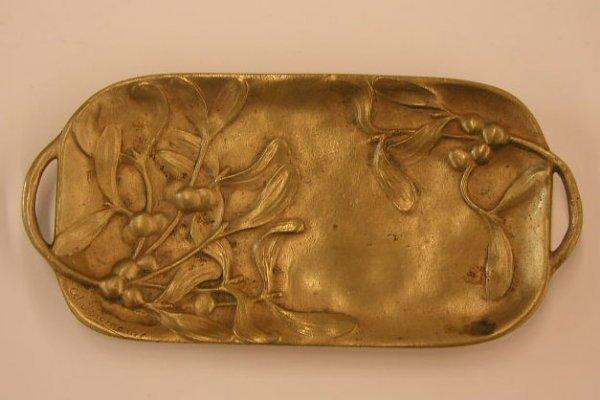 2005: Art Nouveau bronze pin tray