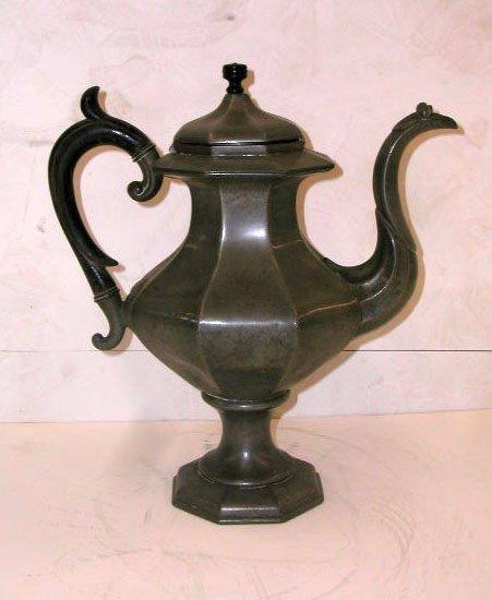 2009: 19th C. James Dixon & Sons pewter teapot