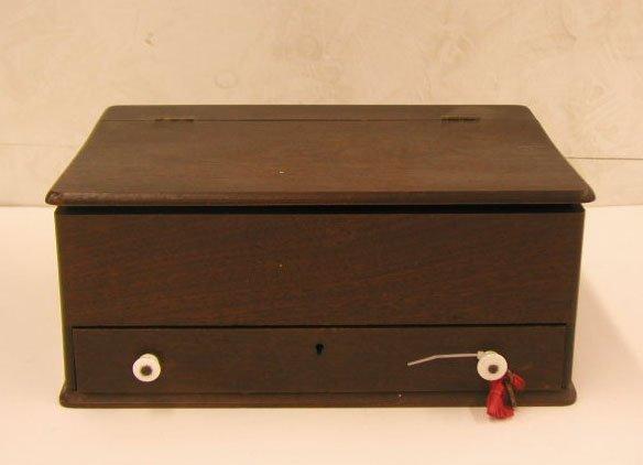 2016: Late 19th C. mahogany sewing box