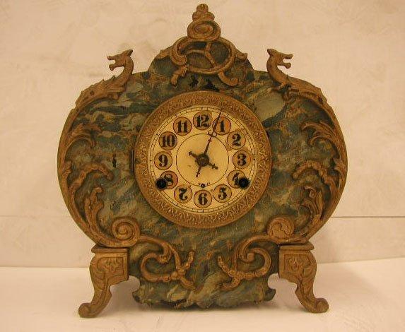 2020: Victorian iron cased shelf clock