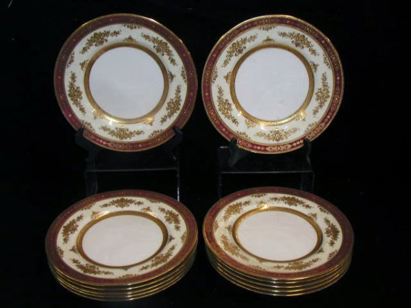 2093: 12 Mintons/Tiffany & Co. serving plates