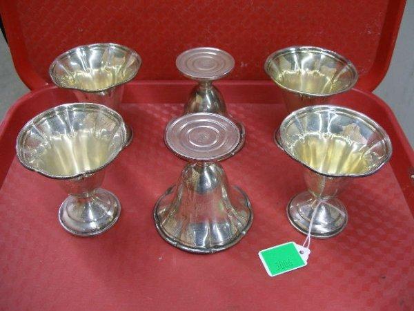 3006: Sterling silver sherbets