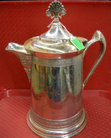 3009: Webster quadruple plate water pitcher