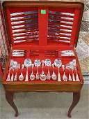 3010 Modern110 pc Sheffield silver plate flatware set